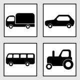 Iconos del vehículo Imagen de archivo libre de regalías