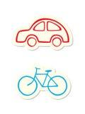 Iconos del vehículo Fotografía de archivo