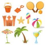 Iconos del verano Fotos de archivo