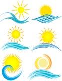 Iconos del verano Imágenes de archivo libres de regalías