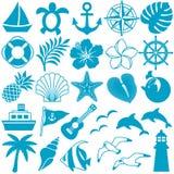 Iconos del verano Imagen de archivo