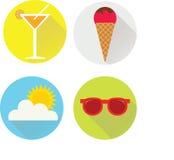 Iconos del verano Foto de archivo