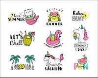 Iconos del verano Imagenes de archivo