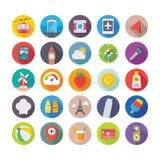 Iconos 5 del verano y del vector del viaje libre illustration