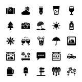 Iconos 3 del verano y del vector del viaje stock de ilustración