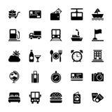 Iconos 4 del verano y del vector del viaje libre illustration