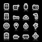 Iconos del viaje libre illustration