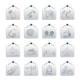 Iconos del viaje y de las vacaciones Imagen de archivo libre de regalías