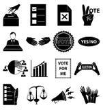 Iconos del voto de la elección fijados Imagen de archivo libre de regalías