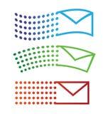 Iconos del vuelo del email Foto de archivo libre de regalías
