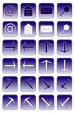 Iconos del Web: 1 azul marino Imagen de archivo libre de regalías