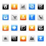 Iconos del Web Imagen de archivo libre de regalías