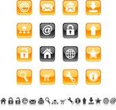 Iconos del Web. Foto de archivo libre de regalías