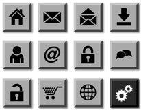 Iconos del Web. Imagen de archivo libre de regalías