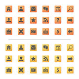 Iconos del Web Imagen de archivo