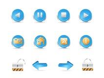 iconos del Web 3D Foto de archivo libre de regalías