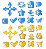 Iconos del Web Imágenes de archivo libres de regalías