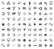 90 iconos del Web Fotografía de archivo