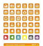 Iconos del Web. anaranjado. conjunto 1 Fotos de archivo libres de regalías