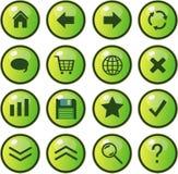 Iconos del Web, botones Fotos de archivo