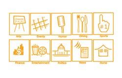 Iconos del Web brillantes Imágenes de archivo libres de regalías