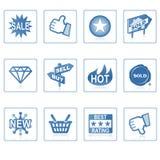 Iconos del Web: Compras en línea 1 Foto de archivo