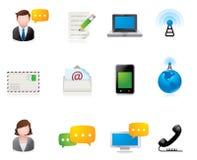 Iconos del Web - comunicación Imágenes de archivo libres de regalías