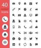 Iconos del web del contacto Llame por teléfono, la dirección de comienzo de la pista en disco, correo electrónico y los símbolos  ilustración del vector