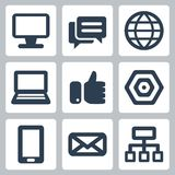 Iconos del web/de Internet del vector fijados Fotografía de archivo libre de regalías