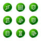 Iconos del Web de la base de datos Fotografía de archivo