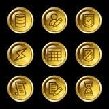 Iconos del Web de la base de datos Fotografía de archivo libre de regalías