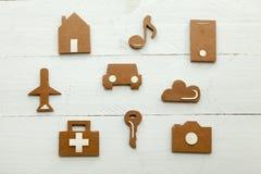 Iconos del web de la cartulina en el fondo blanco Imágenes de archivo libres de regalías