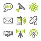 Iconos del Web de la comunicación Fotos de archivo libres de regalías