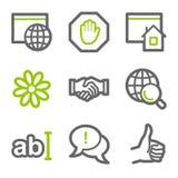 Iconos del Web de la comunicación del Internet Imagen de archivo