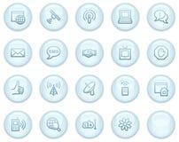 Iconos del Web de la comunicación del Internet Foto de archivo libre de regalías