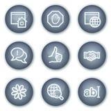 Iconos del Web de la comunicación del Internet, círculo mineral Imagen de archivo libre de regalías