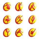 Iconos del Web de la danza ilustración del vector