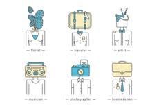 Iconos del web de la gente libre illustration