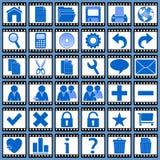 Iconos del Web de la película [1] Foto de archivo libre de regalías