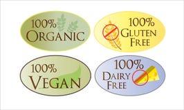 Iconos del Web de la salud del alimento Imagenes de archivo