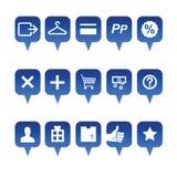 Iconos del Web de las compras Imágenes de archivo libres de regalías