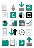 Iconos del Web de las finanzas Foto de archivo