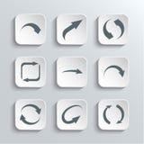 Iconos del Web de las flechas fijados Foto de archivo