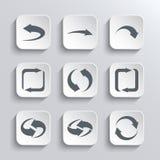 Iconos del Web de las flechas fijados Imagen de archivo