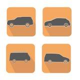 Iconos del web de los coches fijados Stock de ilustración