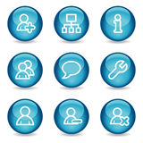 Iconos del Web de los utilizadores, serie brillante azul de la esfera libre illustration