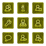 Iconos del Web de los utilizadores, serie de la tarjeta de la electrónica Imágenes de archivo libres de regalías