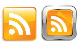 Iconos del Web de RSS Fotos de archivo
