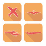 Iconos del web del aeroplano fijados Stock de ilustración
