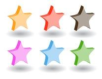 Iconos del Web del color 3d. Ilustración del vector Foto de archivo libre de regalías